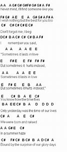 Someone like you letter notes for piano