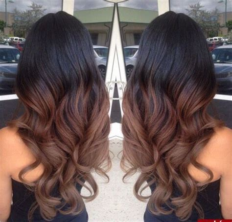 Black Hair With Brown Tips by With Black Brown Hair Hair Hair Ombre