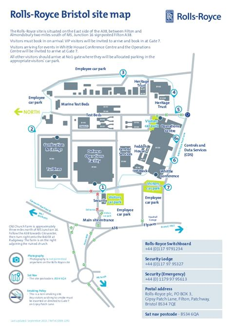 Bristol Rolls Royce Site Map