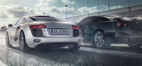 Audi R8 Vs Nissan Gtr On Behance