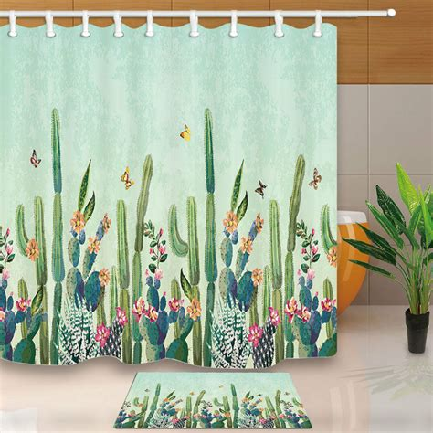 Cactus Shower Curtain - tropical desert succulent cactus shower curtain 71