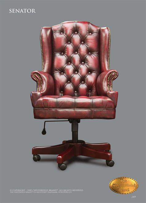 bureau chesterfield chesterfield bureau chaises senator chaise de bureau