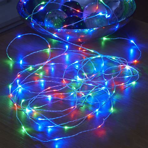 led light strings micro led string lights battery operated remote