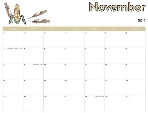 november  calendar printable images printable