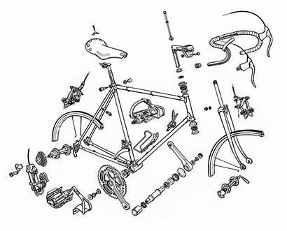 Bicycle Machine Anatomy Parts Lazy Alcrego Bicicleta