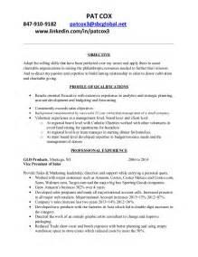 non profit resume objective cox nonprofit resume