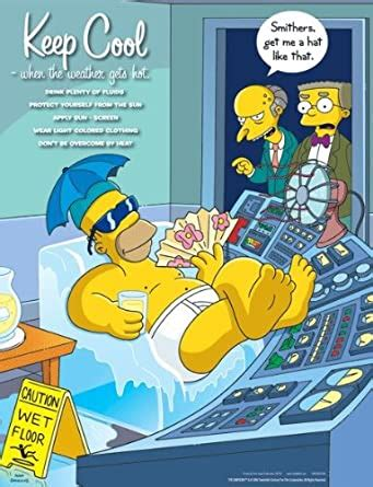 Simpsons Seasonal Safety Poster - Keep Cool When the
