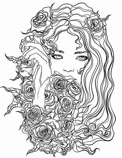 Coloring Pages Adults Adult Pretty App Flowers