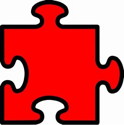 Puzzle Piece Clip Clipart Pieces Jigsaw Vector