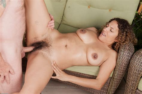 ebony milf gets her very hairy cunt exposed for a hardcore fuck