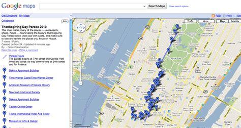map  favorite places   macys parade route