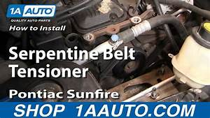 How To Install Replace Serpentine Belt Tensioner Chevy Cavalier Pontiac Sunfire 95