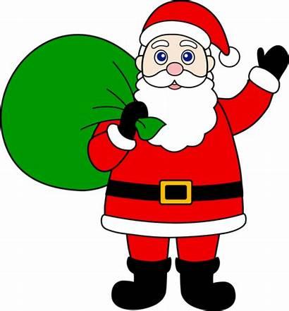 Santa Claus Clip Gifts Clipart Sack Christmas
