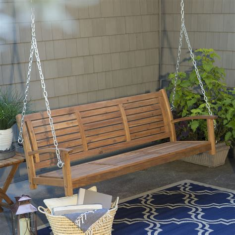 porch swings for coral coast norwood 5 ft outdoor horizontal slat back