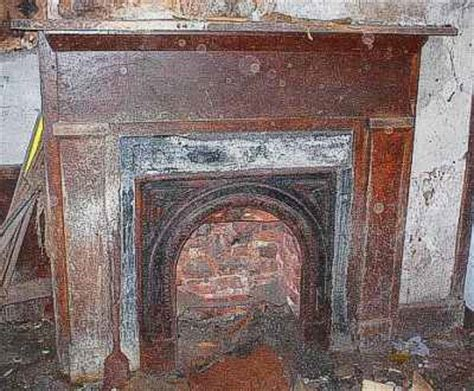 fireplace mantels chimneys  stone  vintage log