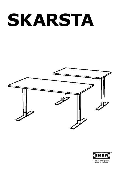 skarsta bureau assis debout blanc ikea ikeapedia