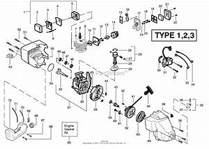 Poulan Featherlite Gas Trimmer Type 2 Parts Diagram For