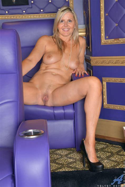Sexy Milf Velvet Skye Stripping In A Movie Theatre Of