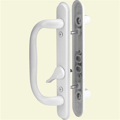 sliding door handles home depot prime line sliding door handle set white c 1284 the
