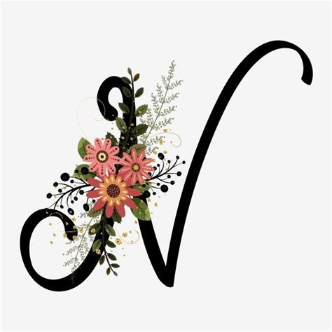 alphabet letter   flowers vintage lettering alphabet alphabet letters design alphabet