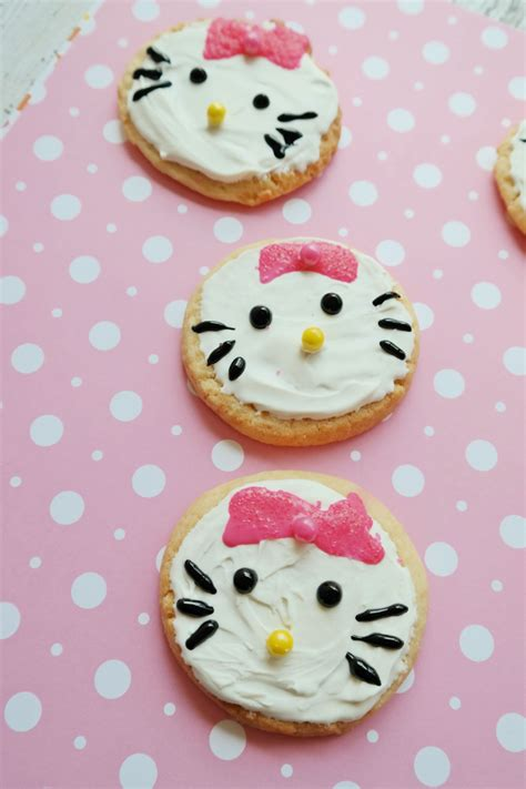 kitty sugar cookies  perfect treat  kids