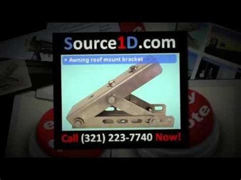 universal roof mount bracket retractable awning youtube