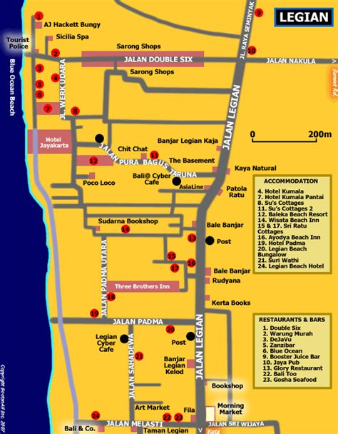 ill    week map  legian bali bali blog