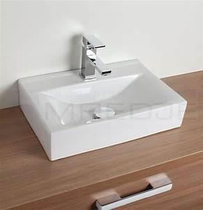 Waschbecken 60 X 30 : design waschtisch aufsatzbecken quadro wei 45 5 x 30 5cm mit nano beschichtung ~ Markanthonyermac.com Haus und Dekorationen