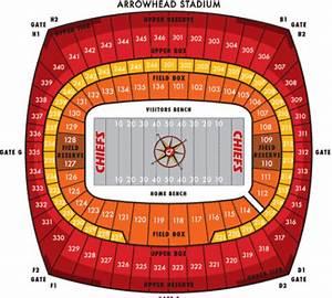 Kc Chiefs Stadium Seating Chart Nfl Football Stadiums Kansas City Chiefs Stadium