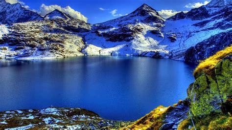 beautiful mountain lake scenery hd wallpaper preview