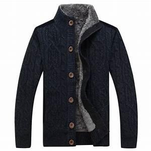 Veste En Laine Homme : gilet laine homme cachemire manche longue hiver veste ~ Carolinahurricanesstore.com Idées de Décoration