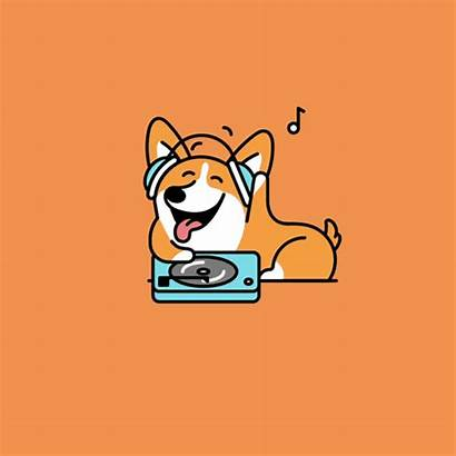 Corgi Twerk Dog Cartoon Anime Gifs Funny