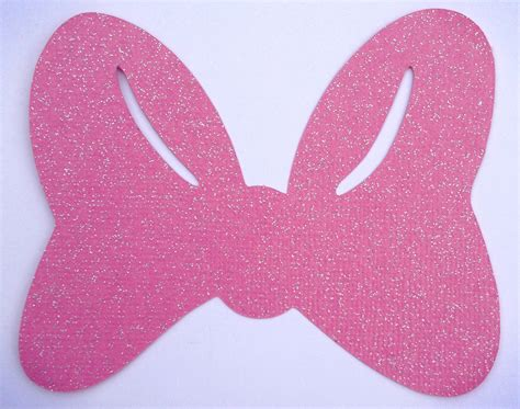 pink glitter minnie mouse bows  lulubellacreations