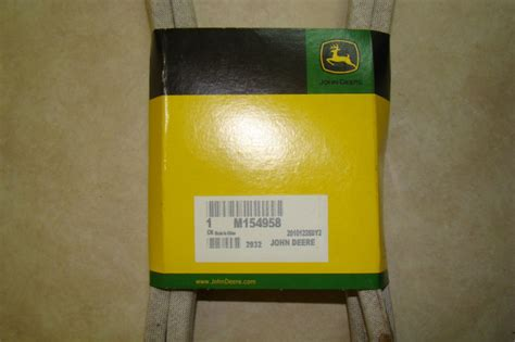 john deere m154958 secondary deck drive belt for 48c deck