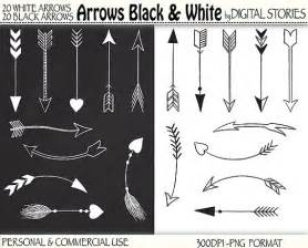 Tribal Arrow Clip Art Black and White