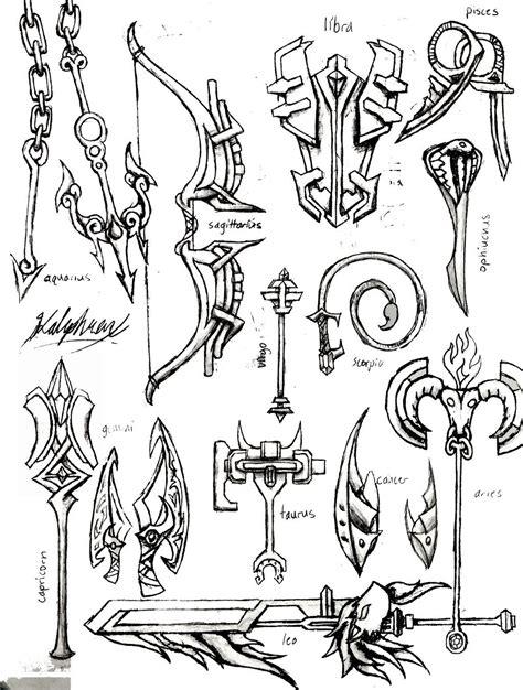 zodiac weapons  kalephrex lineart fairy tail