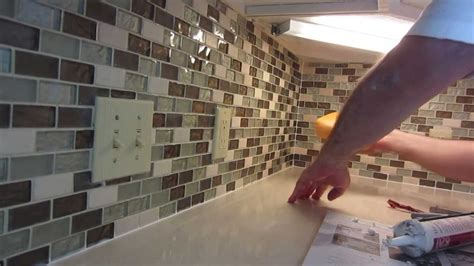 how to do kitchen backsplash how to install glass mosaic tile backsplash part 3
