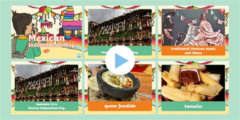 Mexican Independence Day Words and Photos PowerPoint
