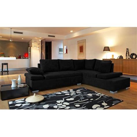 canapé assise décoration salon avec canape noir