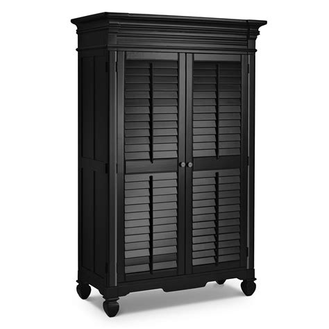 Black Armoires Wardrobe Plantation Cove Black Armoire American Signature