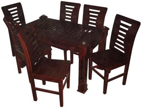 modern dining table set 6 chairs koroi wood 10mm glass