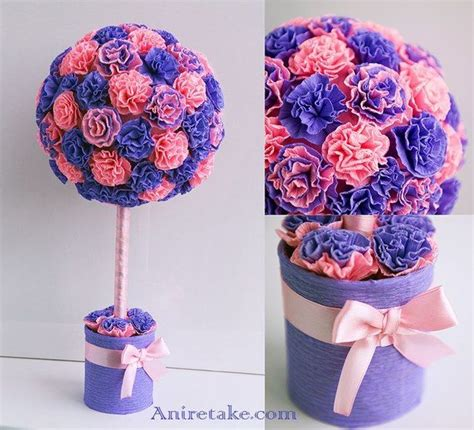 blumen basteln aus krepppapier 20 besten basteln mit krepppapier bilder auf anleitungen krepppapierblumen und