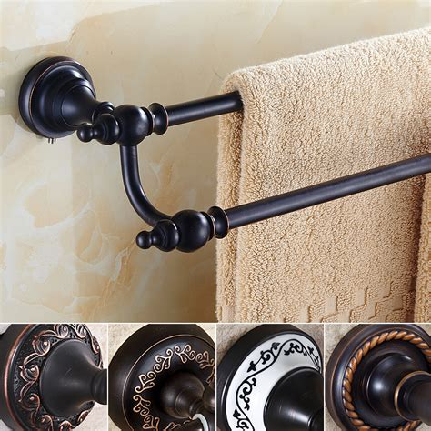 rubbed bronze bathroom accessory kit rubbed bronze towel bar 60 64cm bathroom accessories