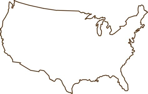 Outline Of United States Map Brown Clip Art At Clker.com
