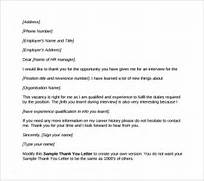 After Second Interview Thank You Letter Samples Sample Thank You Letter After Second Interview Download Free