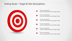 Setting goals template for powerpoint with target darts for Setting up a powerpoint template