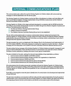 plan template 18 free word pdf psd indesign format With internal comms strategy template