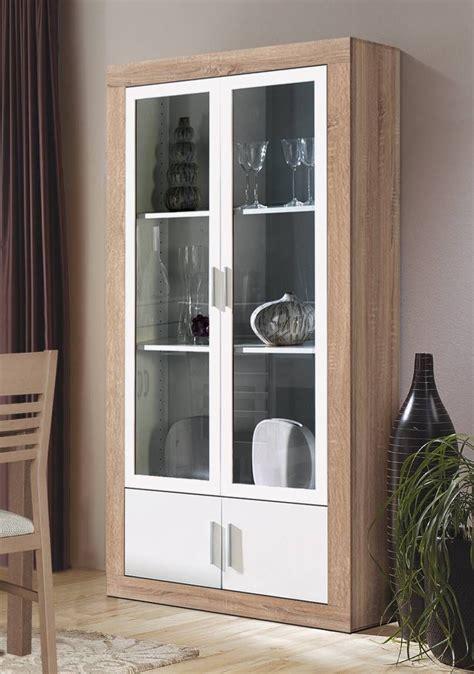 vitrina  saloncomedor color roble claro combinado