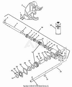 Ariens 924106  000101 - 002199  St1024  10hp Tec   24 U0026quot  Blower Parts Diagram For Gear Case