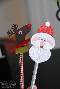 santa gift tags cute pencil toppers christmas card crafts pencil